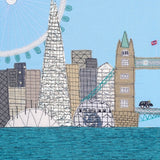 London Textile Art Close Up Image - Jackie Gale
