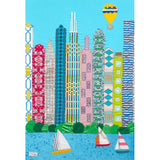 Chicago Cityscape Textile Art Picture