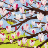 Close Up Detail Of Magnolia Textile Artwork
