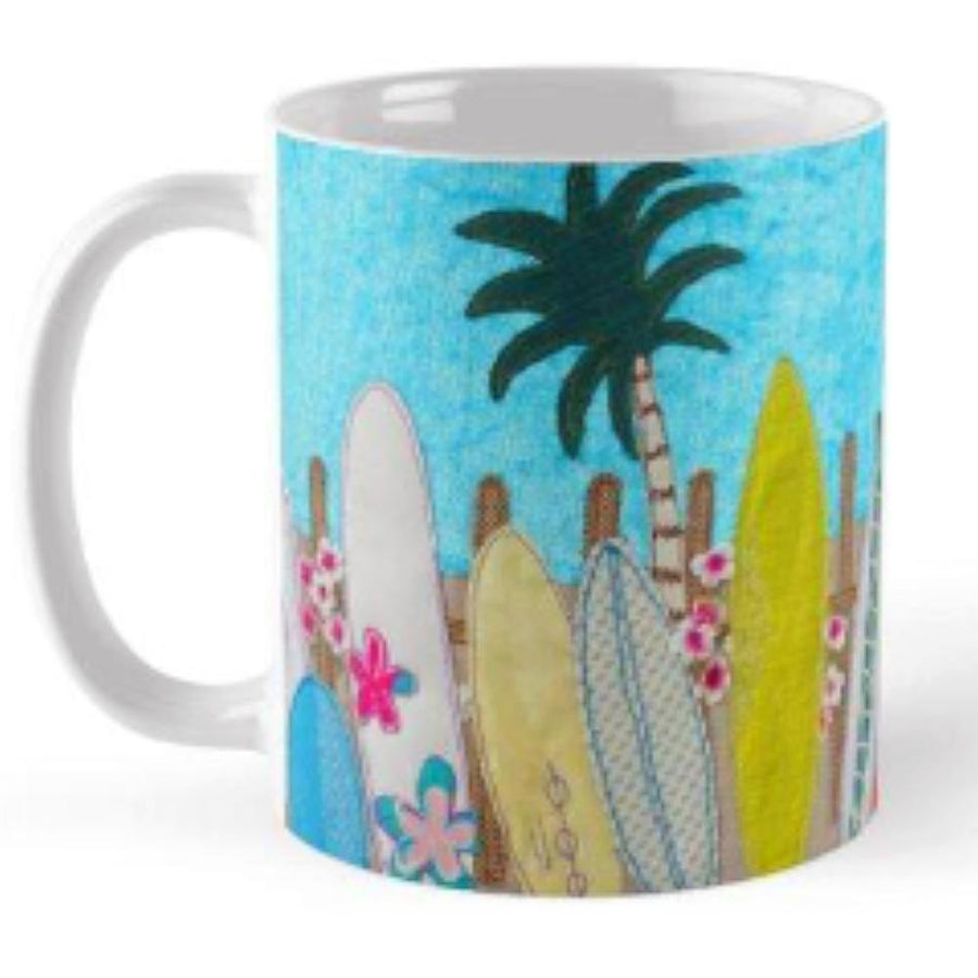 Waiting For A Wave Ceramic Mug