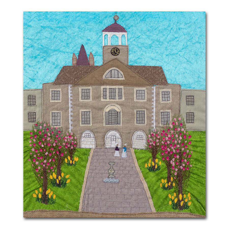 Royal Navy Plymouth Hospital - QARNNS - Textile Art Print - Picture