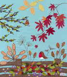 Autumn Art  'On The Fence' by Jackie Gale, Textile Artist