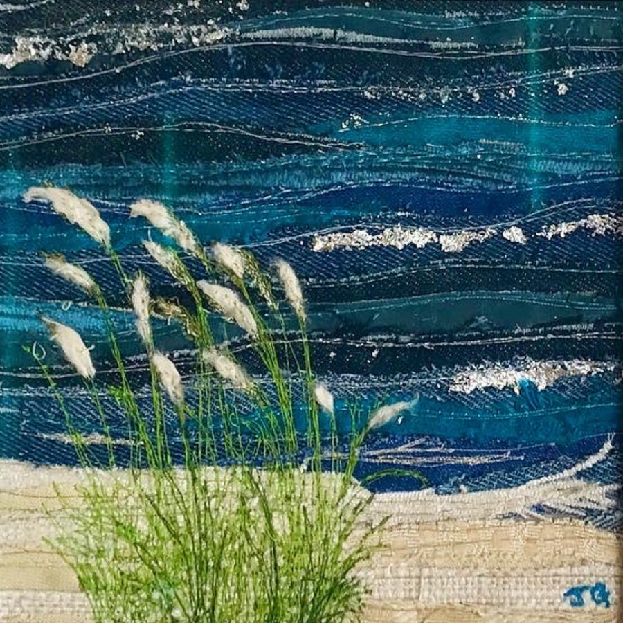 Sea Grass Close Up, Jackie Gale Textile Art