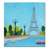 Paris - Eiffel Tower - Textile Art Print - Limited Edition