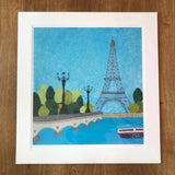 Paris - Limited Edition Giclee Print by Jackie Gale