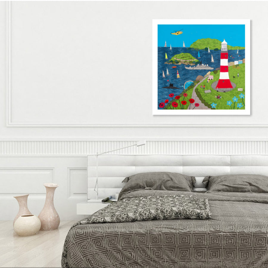 Fun On The Hoe, Limited Edition Textile Art Print