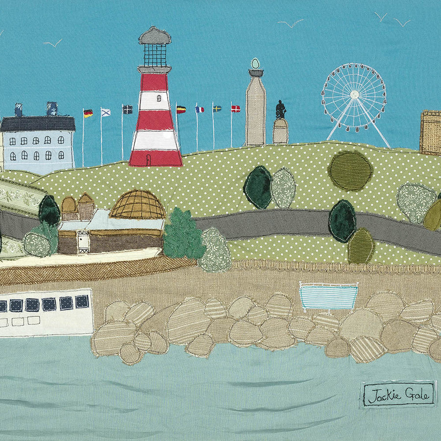 A picture of Plymouth Hoe, Devon  - art by Jackie Gale