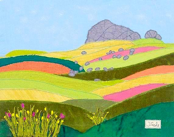 Dartmoor Textile Art - Limited Edition - Jackie Gale, Textile Artist