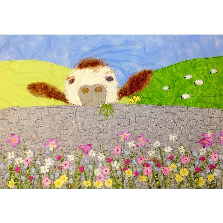 Picture of Priscilla The Cow - Art Print (Limited Edition - Jackie Gale, Textile Artist