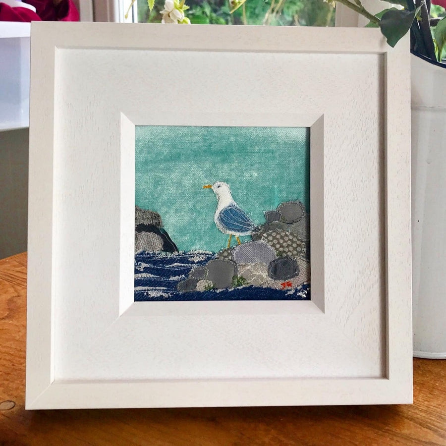 On The Rocks - Original Art By Textile Artist Jackie Gale