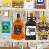 Rum Bottles - Textile Art By Jackie Gale