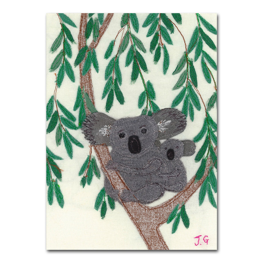 Koala Textile Art - Safe And Sound - Jackie Gale Art