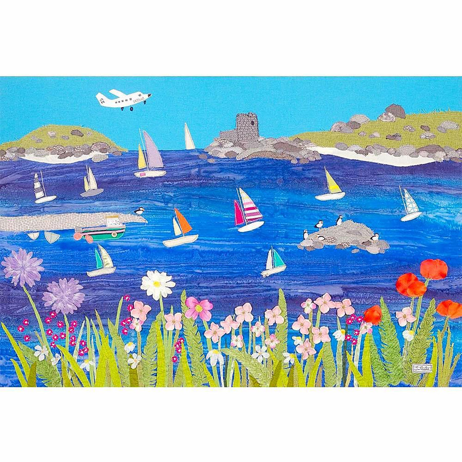 Scilly Isles Sailing Art Print - Jackie Gale Textile Art