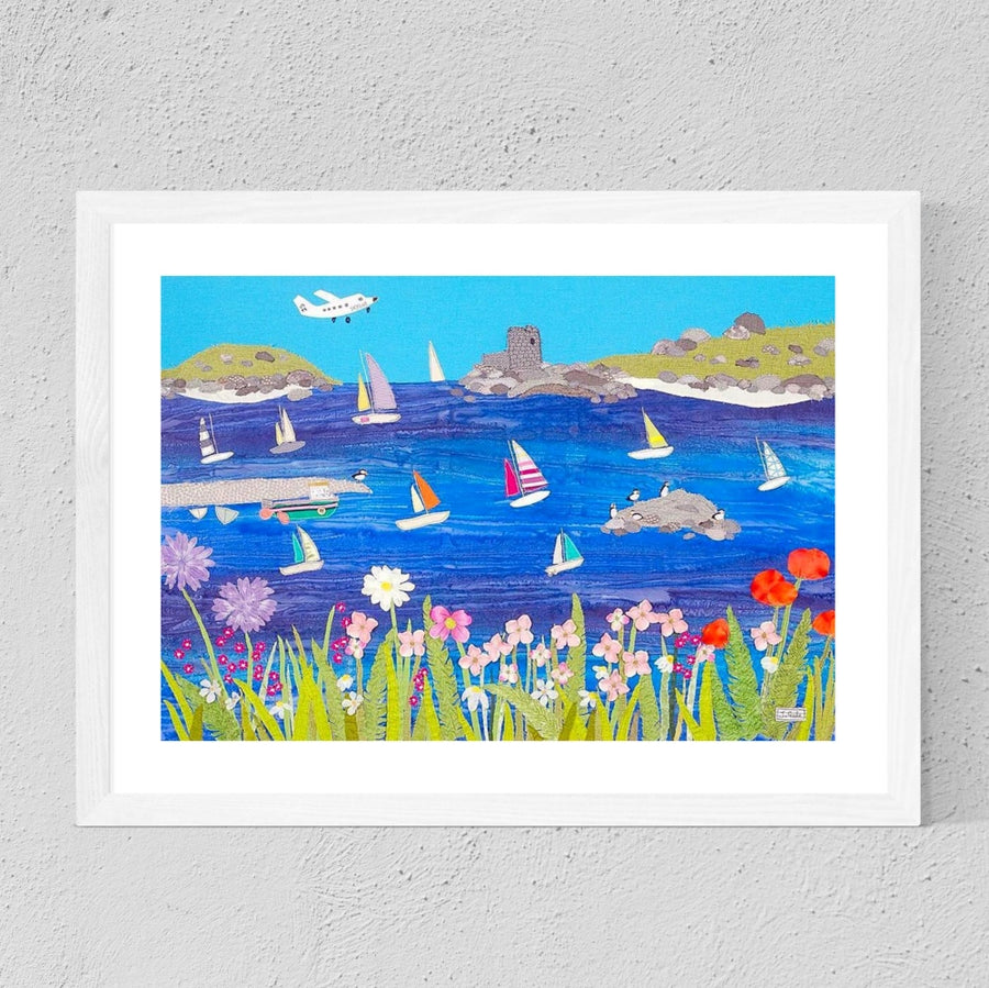 Scilly Isles Art - Framed Print By Textile Artist, Jackie Gale