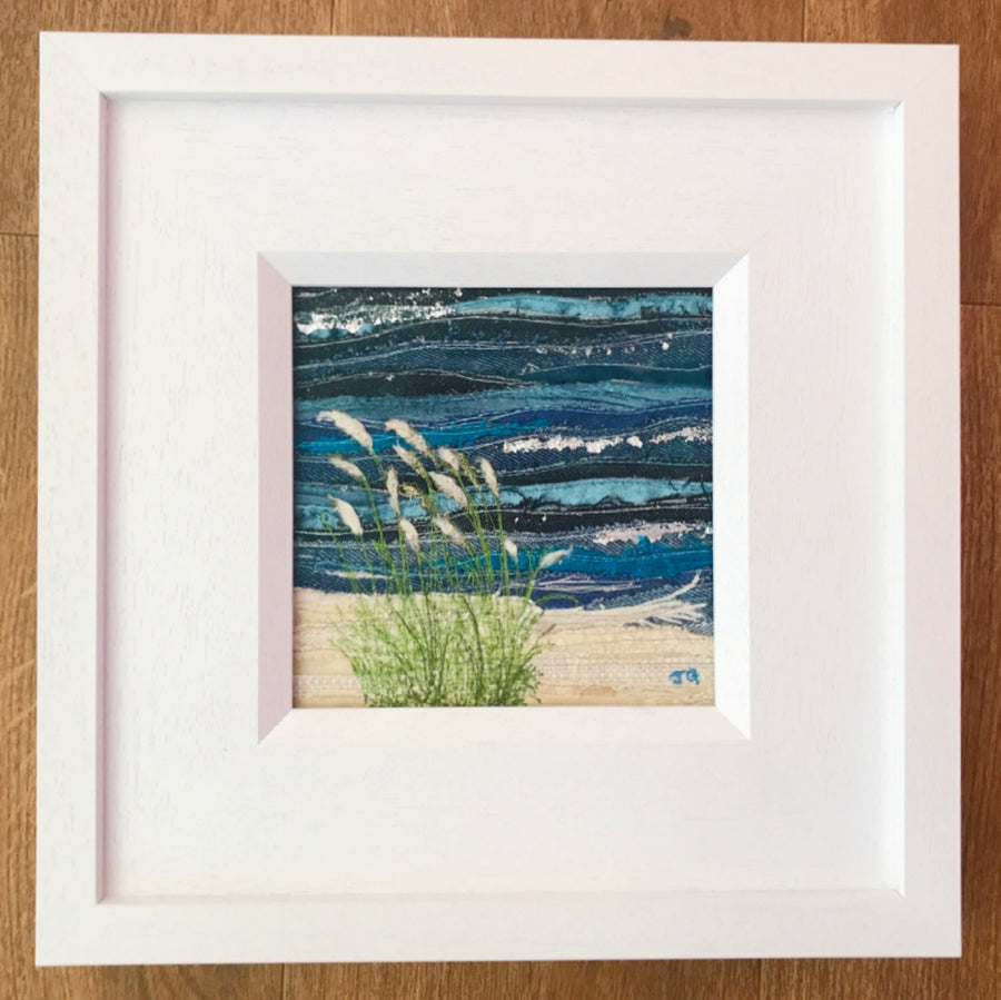 Sea Grass - Mini Original Textile Artwork (SOLD)