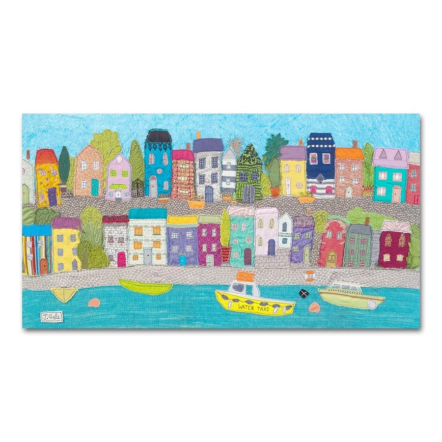 Sea Town - Textile Art Print - Coast - Limited Edition Picture