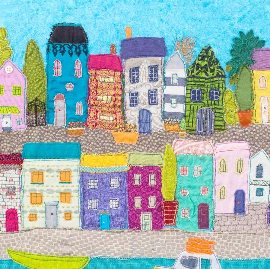 Textile Art Houses by Jackie Gale