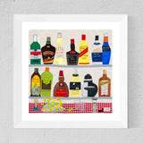 After Hours! Liqueur Art Print - Jackie Gale Textile Artist