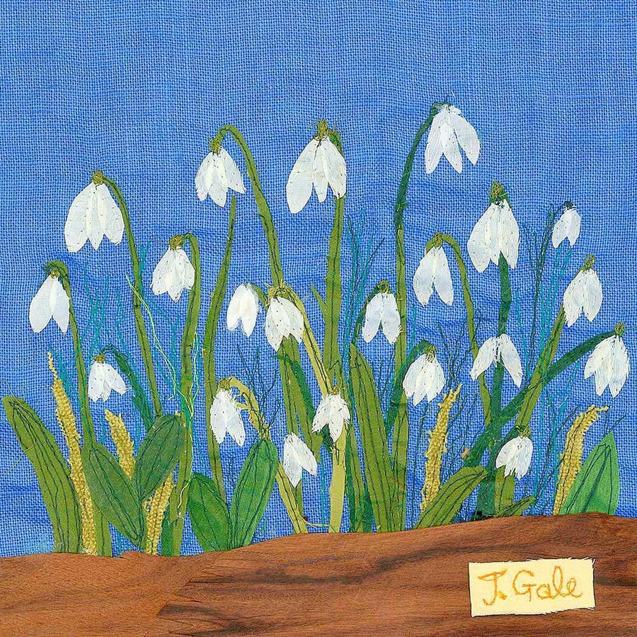 A picture of snowdrops, white winter flowers  - art by Jackie Gale