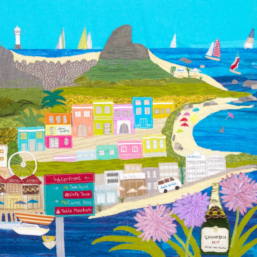 Cape Town Textile Artwork Section - Cape Memories by Jackie Gale