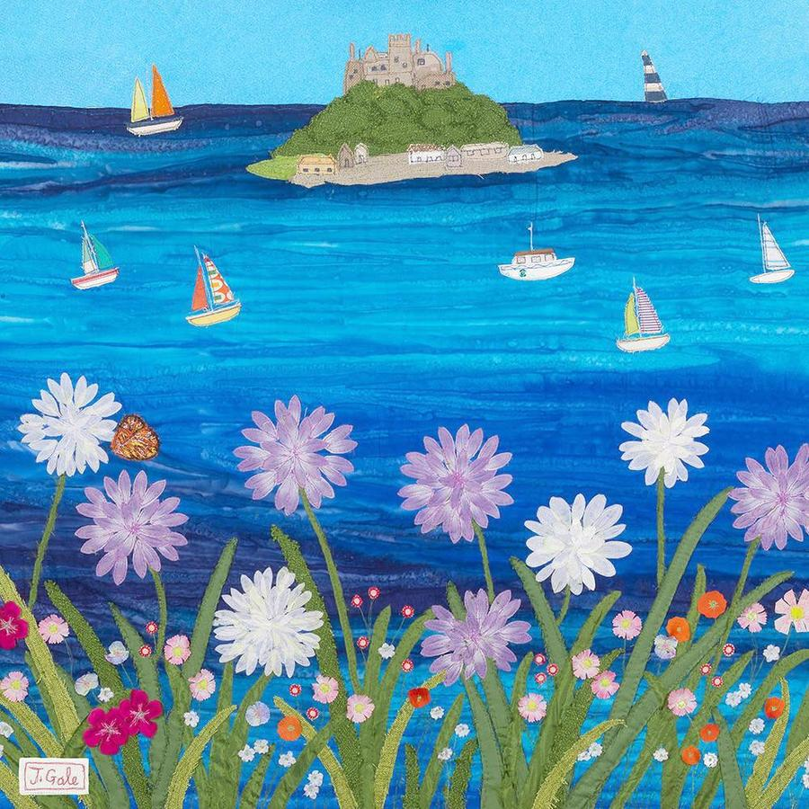 St Michaels Mount, Cornwall - Jackie Gale Textile Art