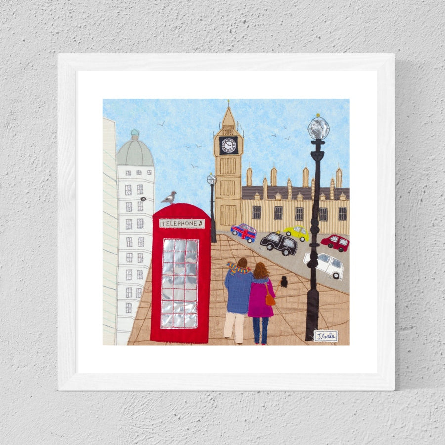 London City Textile Art - Romantic Break - Big Ben - City Break