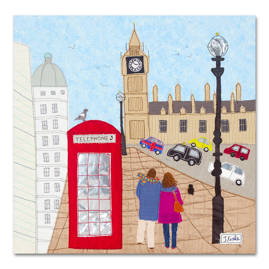 London Cityscape Textile Art Print - Limited Edition Artwork