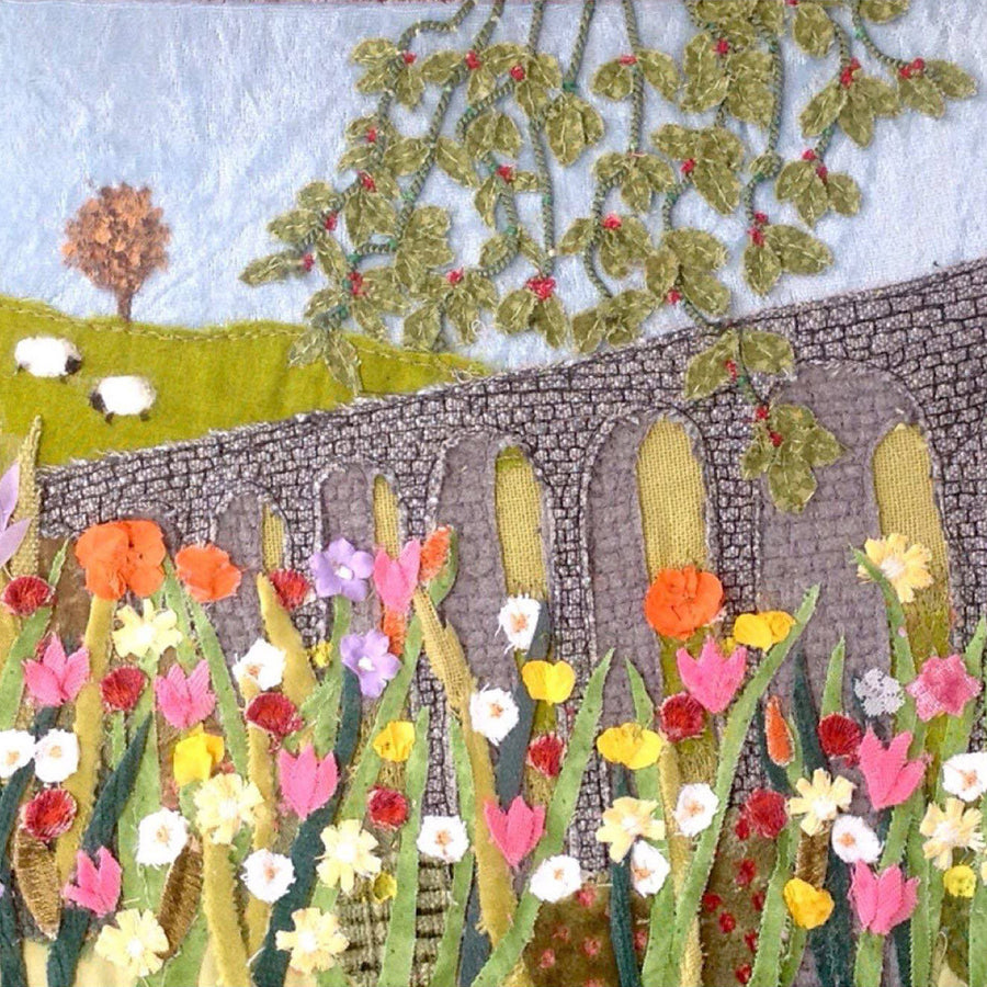 Picture of summer flowers in the British countryside - art by Jackie Gale