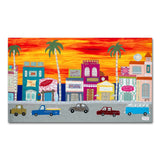 Sunset Boulevard, Box Canvas Print by Jackie Gale Artist