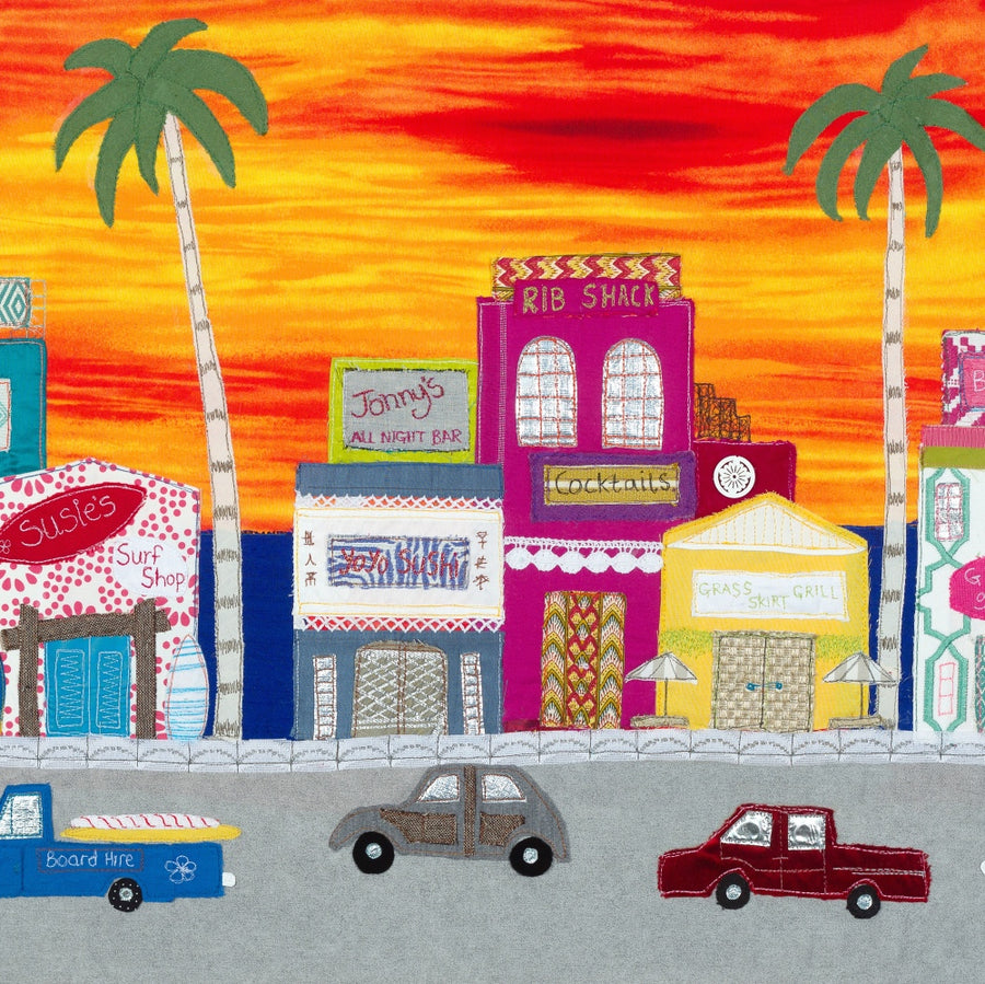 Sunset Boulevard - Original Textile Artwork