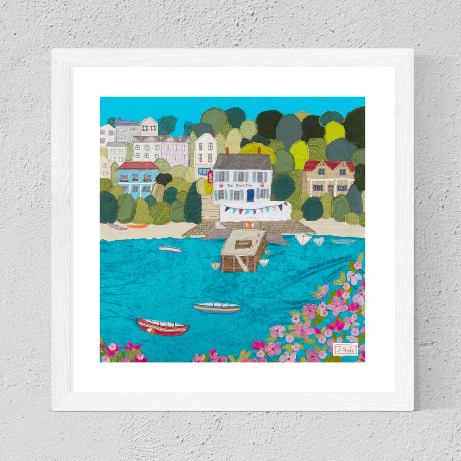 Swan Inn Pub, Devon, Framed Art Print By Jackie Gale