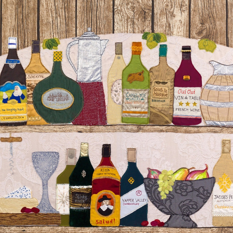 Time To Wine By Jackie Gale, Textile Artist