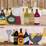 wine textile art by Jackie Gale