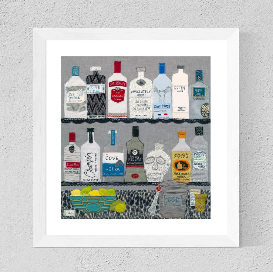 Vodka Textile Art - Limited Edition Print By Jackie Gale