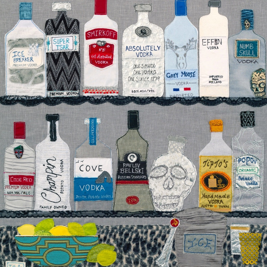Vodka Textile Art (From Russia With Love) Jackie Gale Artist