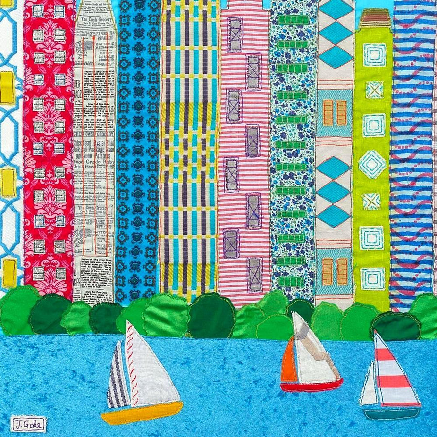 Chicago - Original Textile Artwork (SOLD)