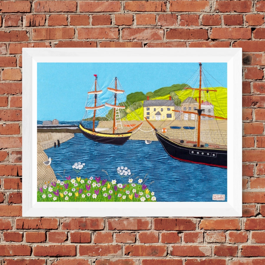Charlestown - Fine Art Textile Print by Jackie Gale (Limited edition)