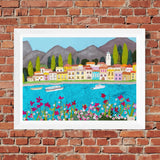 Picture of Lake Como - Fine Art Textile Print by Jackie Gale (Limited Edition)