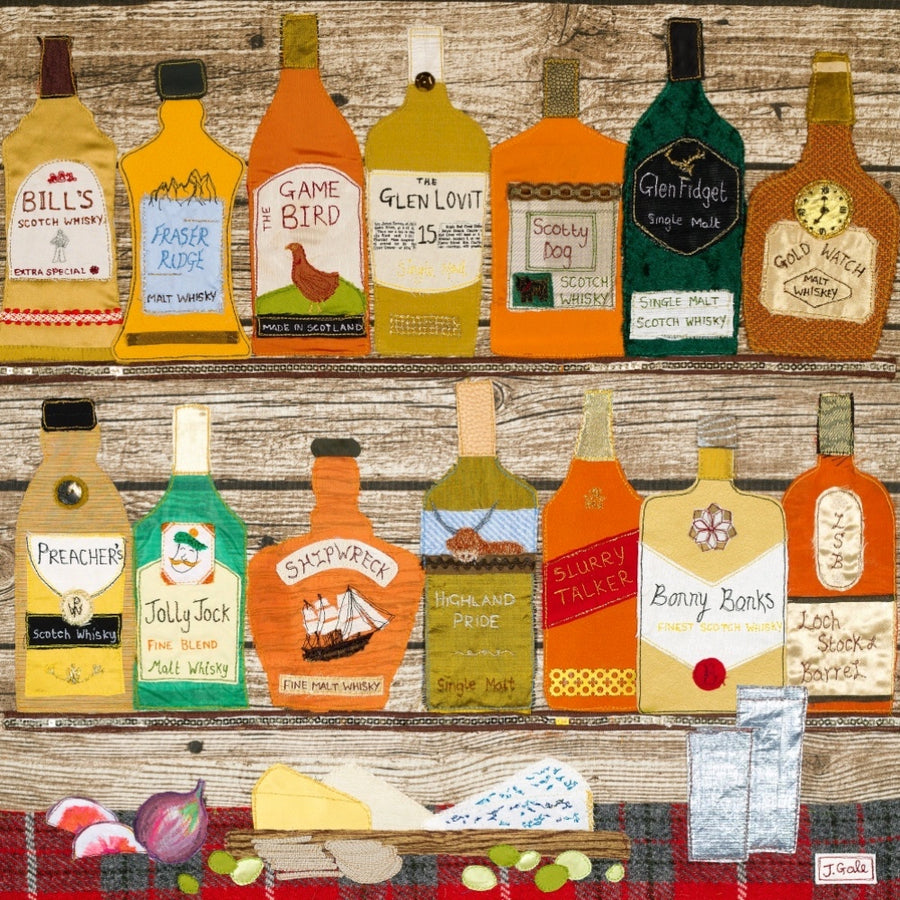 Whisky Textile Art By Jackie Gale, Devon Artist (Limited Edition)