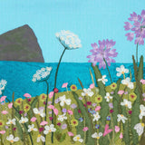 Picture of Wembury  in Devon - textile art by Jackie Gale