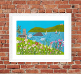 Wembury Days - Textile Art Print (Limited Edition)