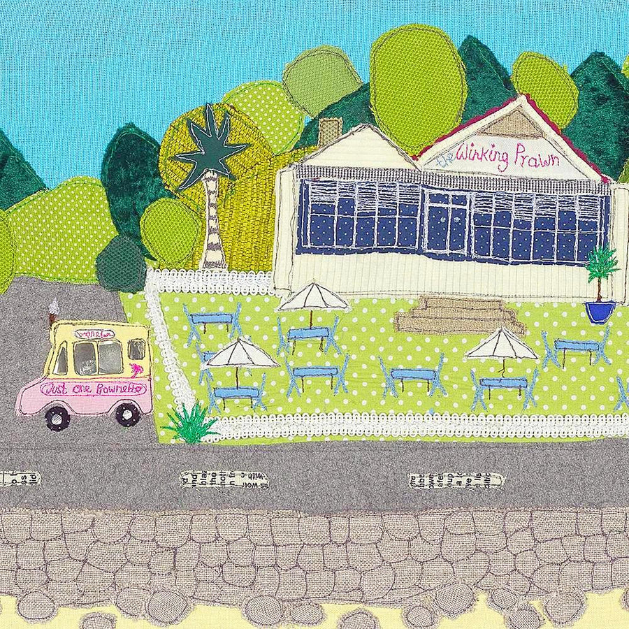 Picture of the Winking Prawn Cafe  - art by Jackie Gale