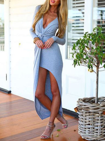 Grey High Low Summer Wrap