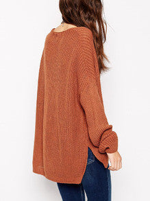 Loose Sweater in Brown with Long Sleeves Fall Winter Fashion Sweater. 10 of the best fashion outfits to try for this fall and winter.