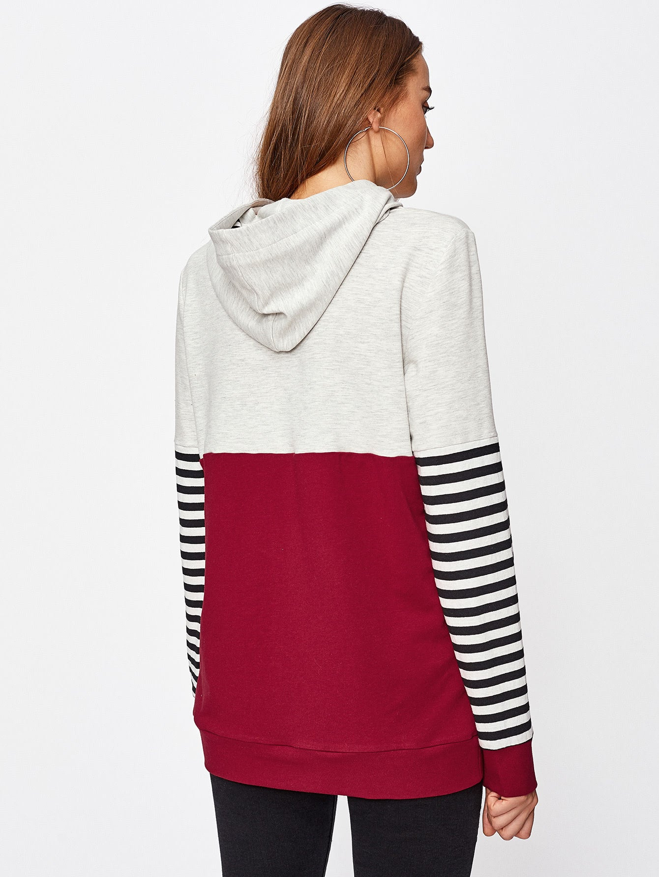 Multi-Color Sew And Cut Hoodie