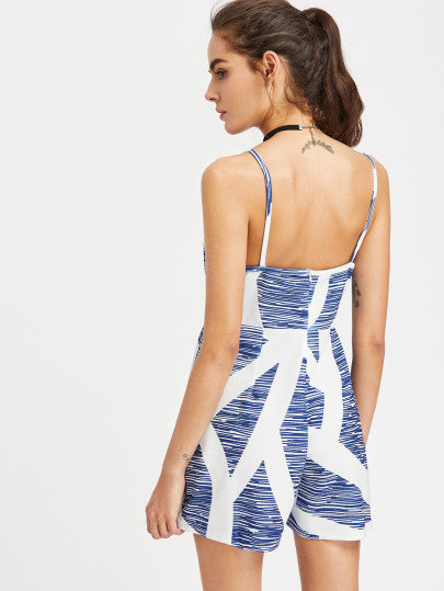 Blue and White Striped Casual Summer Dress