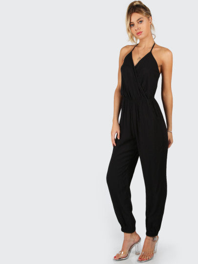 Cool Black Sleeveless Jumpsuit Perfect to Wear with High Heels