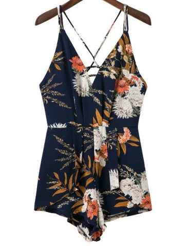 Floral Print Spring Summer Break Romper Playsuit