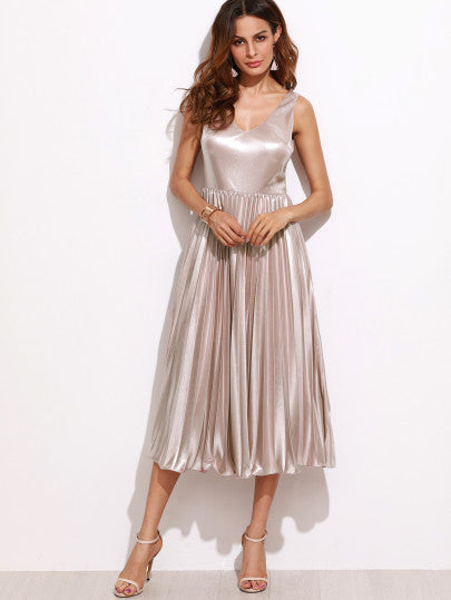 Gorgeous Silver Prom Homecoming Party Dress