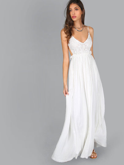 Gorgeous White Long Event Dress for Wedding Homecoming Prom Graduation